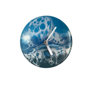 Resin seascape clock