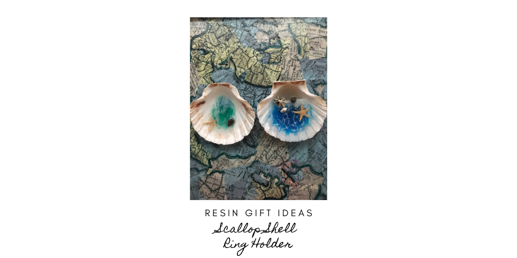 Resin Gift Ideas – Scallop shell ring or jewelleryholder