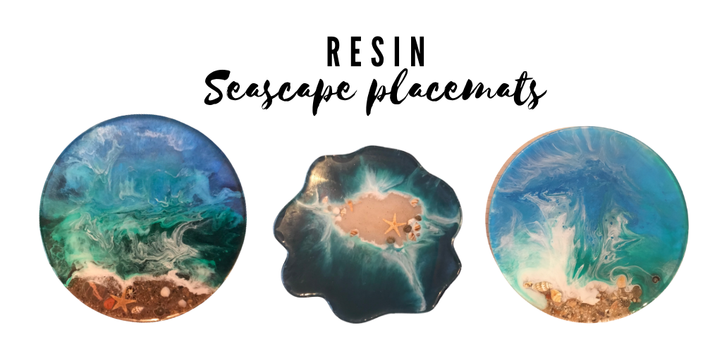 Resin seascape beach placemats