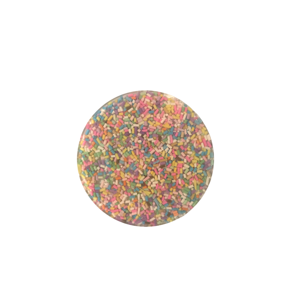 Polymer clay candy sprinkles coaster