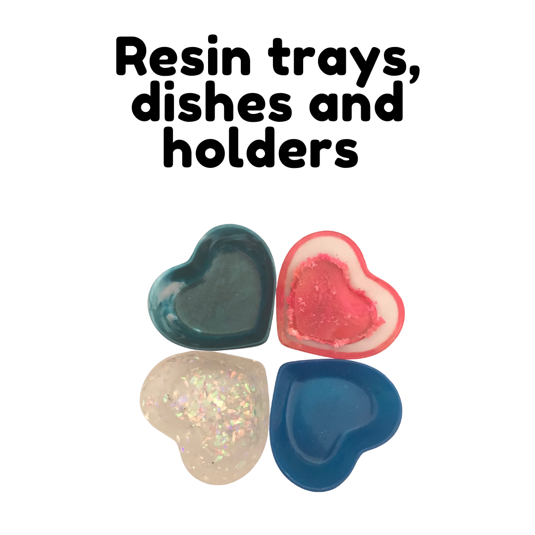 Resin trinket dishes, key trays and pen holders