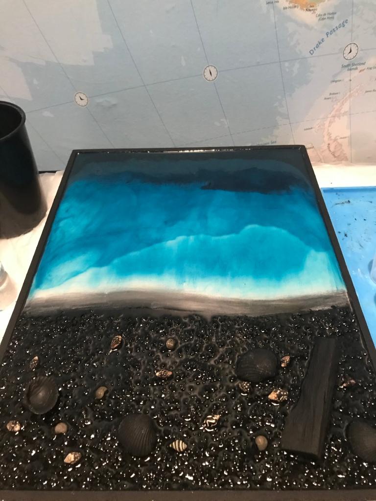 Creating resin ocean