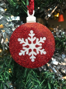 Resin Christmas snowflake tree decoration