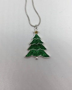 Resin Christmas tree pendant